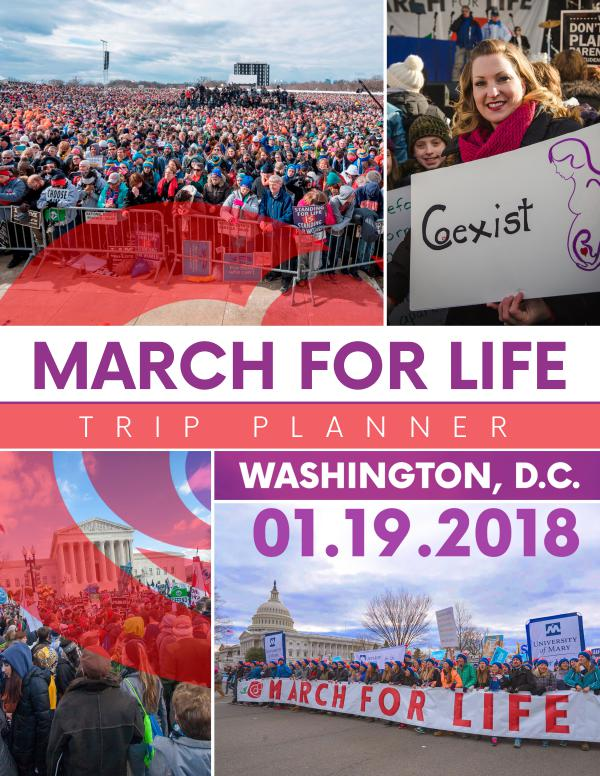 2018 March for Life Trip Planner 2018 March for Life Trip Planner