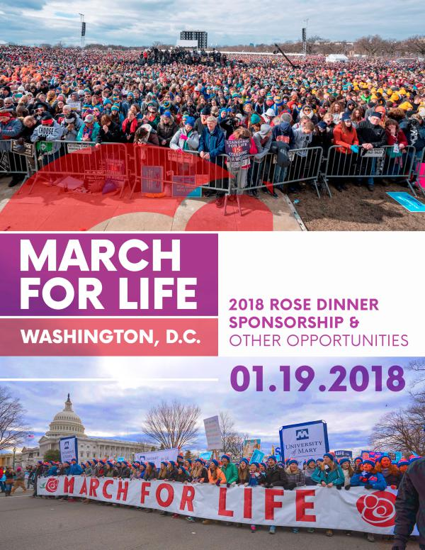 2018 March for Life Sponsorship Packet 2018 March for Life Sponsorship Packet