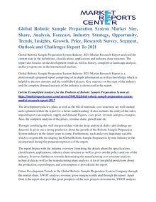 Robotic Sample Preparation System Market Regional Outlook To 2021