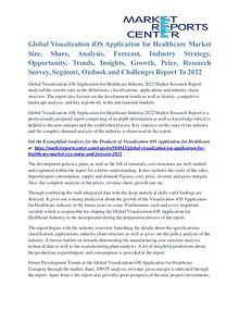 Visualization IOS Application for Healthcare Market Analysis To 2022
