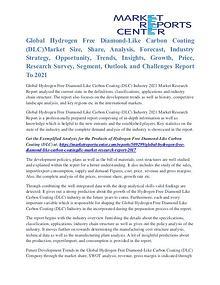Hydrogen Free Diamond-Like Carbon Coating (DLC) Market Share To 2021