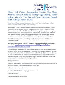 Cell Culture Consumption Market Price Trends And Segment To 2017