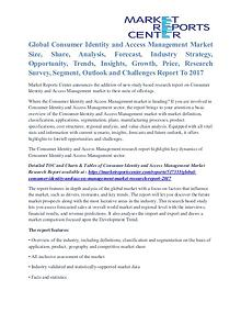Consumer Identity and Access Management Market Analysis To 2017
