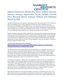Optical Transceivers Market Size Report To 2022