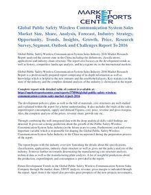 Public Safety Wireless Communication System Market Size To 2016