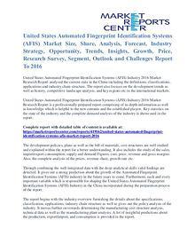 Automated Fingerprint Identification Systems (AFIS) Market Size 2016
