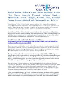 Radiant Walled Carbon Dioxide Incubator Market Size Analysis To 2016