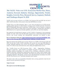 The VoLTE Market Analysis, Size, Share and Forecast To 2030