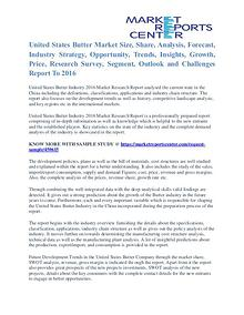 United States Butter Market Growth Analysis To 2016