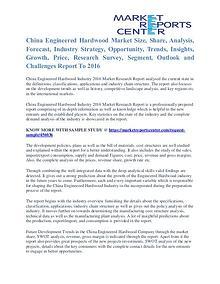 Engineered Hardwood Market Key Vendors, Trends and Forecasts to 2016