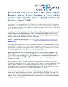 United States Wind Energy Market Cost and Revenue Trends Report 2016