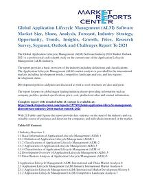 Application Lifecycle Management (ALM) Software Market Outlook 2021