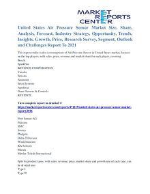 United States Air Pressure Sensor Market Key Companies Trends To 2021