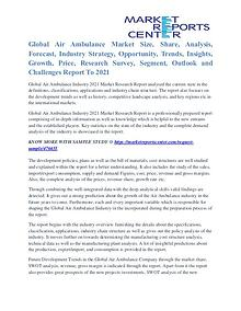 Air Ambulance Market Trends, Analysis and Forecast to 2021