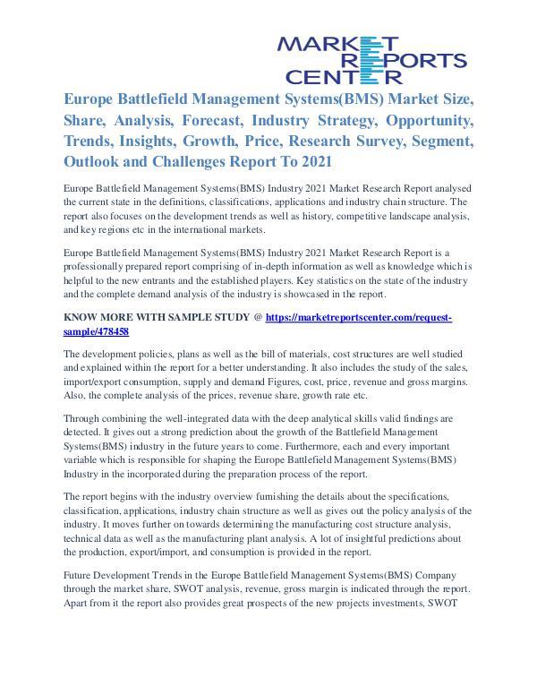 Europe Battlefield Management Systems(BMS) Market Key Vendors To 2021 Europe Battlefield Management Systems(BMS) Market