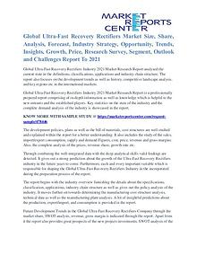 Ultra Fast Recovery Rectifiers Market Growth To 2021