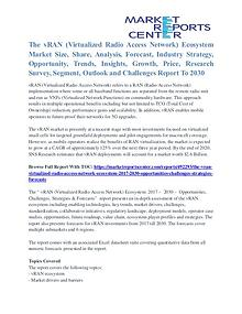 Virtualized Radio Access Network Ecosystem Market Growth To 2030