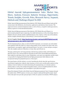 Aneroid Sphygmomanometer Sales Market Growth Forecast To 2021