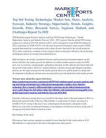Top Std Testing Technologies Market Analysis, Demand, Forecast 2022