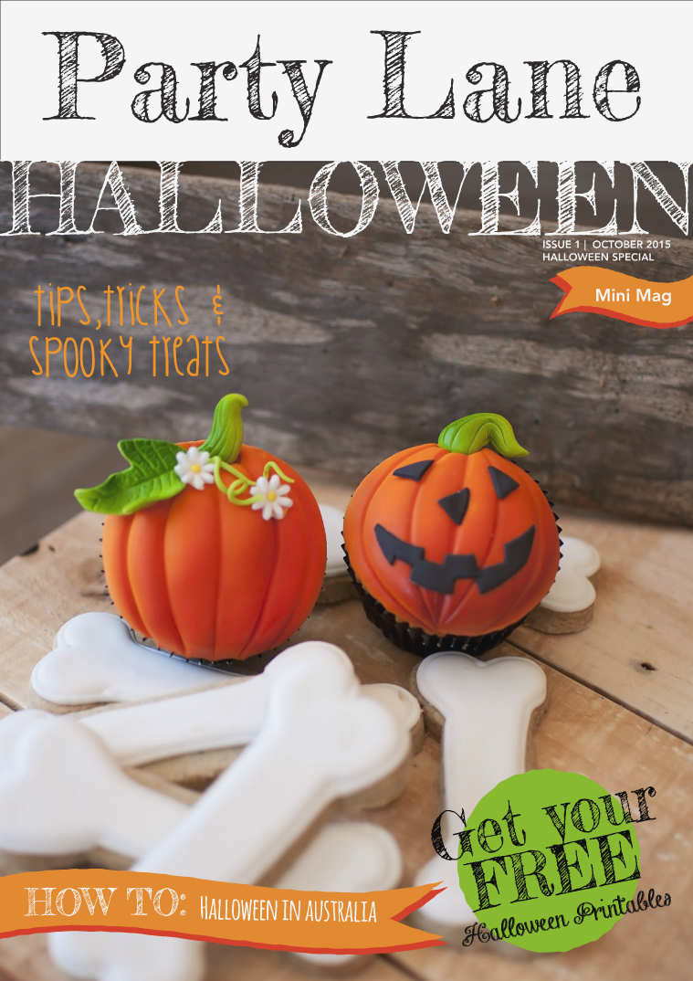 Party Lane Magazine Halloween Mini Mag 2015