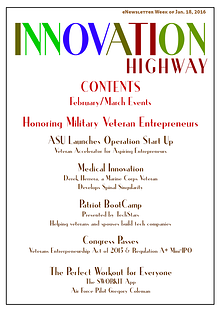 Jan. 2016 Innovation Highway - Supporting Veteran Entrepreneurs