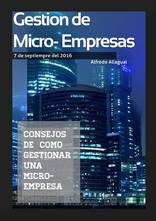 Proyecto Personal 2016 Gestión de Micro-Empresas