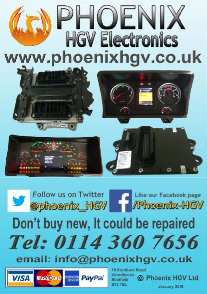 Phoenix HGV Electronic Repairs 2016 catalogue February 2016