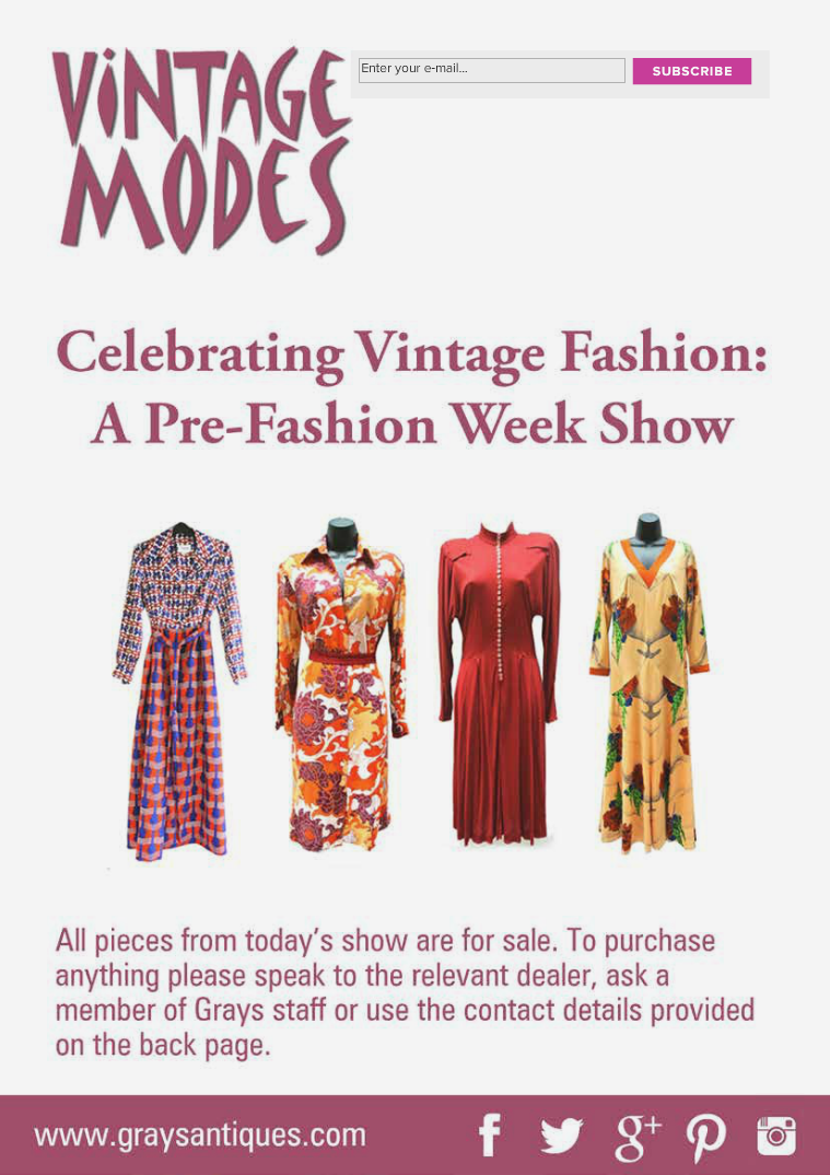 Vintage Modes Look Book Vintage Modes at Grays Antiques Lookbook