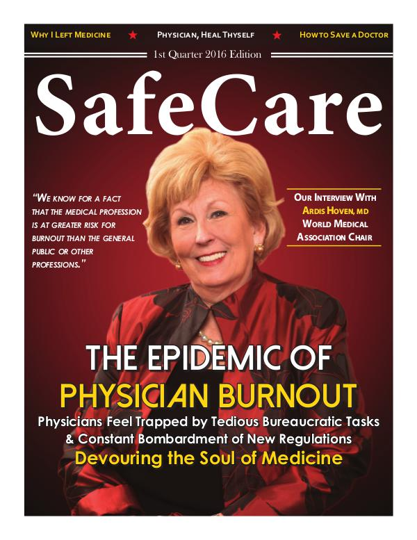 SafeCare 1st Quarter 2016