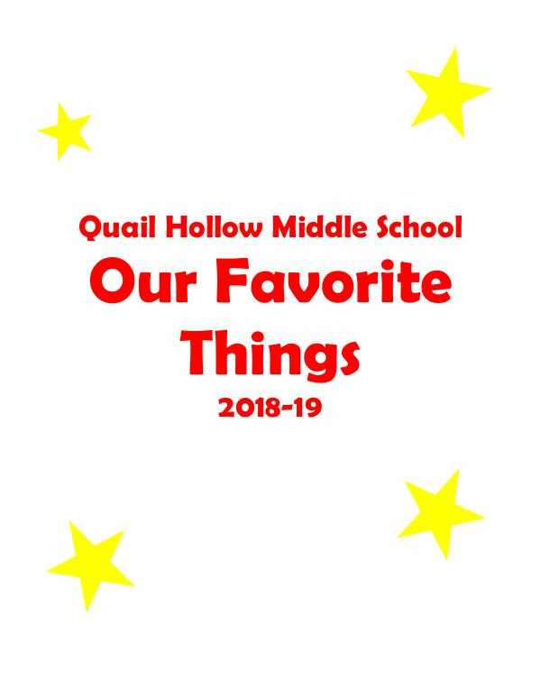 QHMS Favorite Things 2018-19 QHMS My Favorite Things 2018