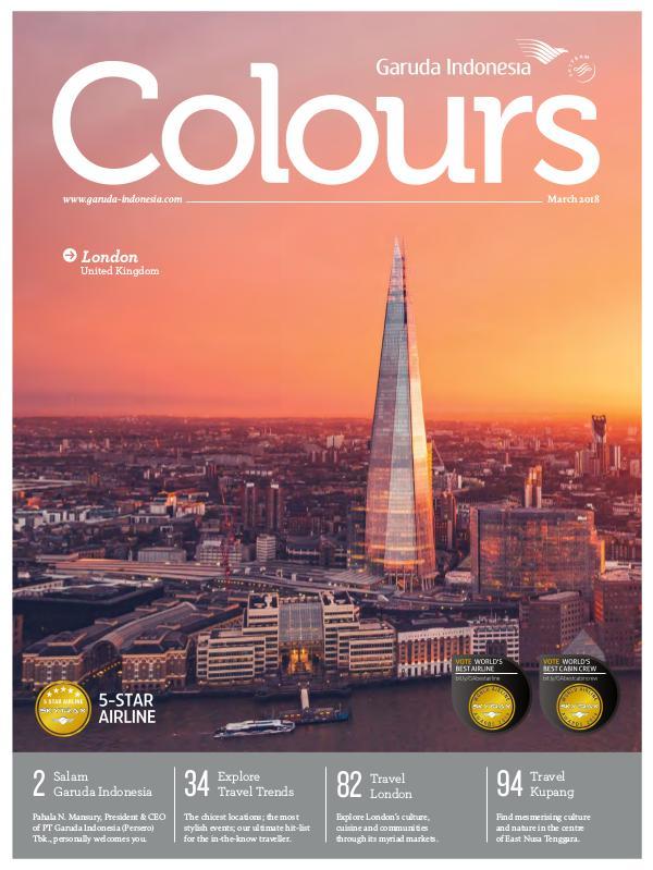 Garuda Indonesia Colours Magazine March 2018