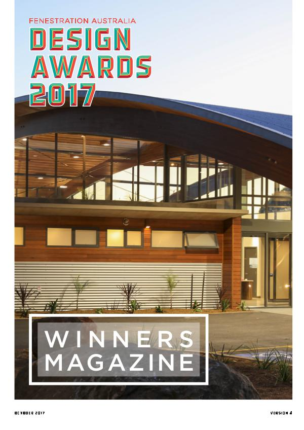 Fenestration Australia Design Awards Winners Magazine 2017