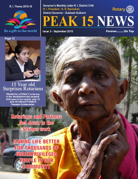 Peak15 News Sept 2015