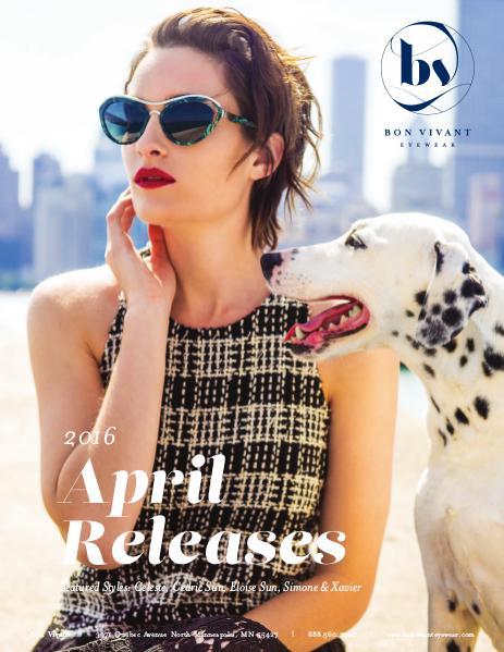 Bon Vivant New Releases April 2016