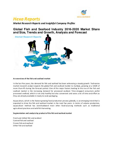 Global Fish and Seafood Market Size, Share, trends and Forecast