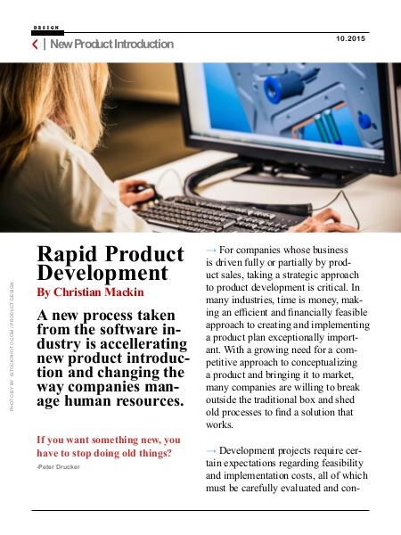 Rapid Product Development Rapid Product Development