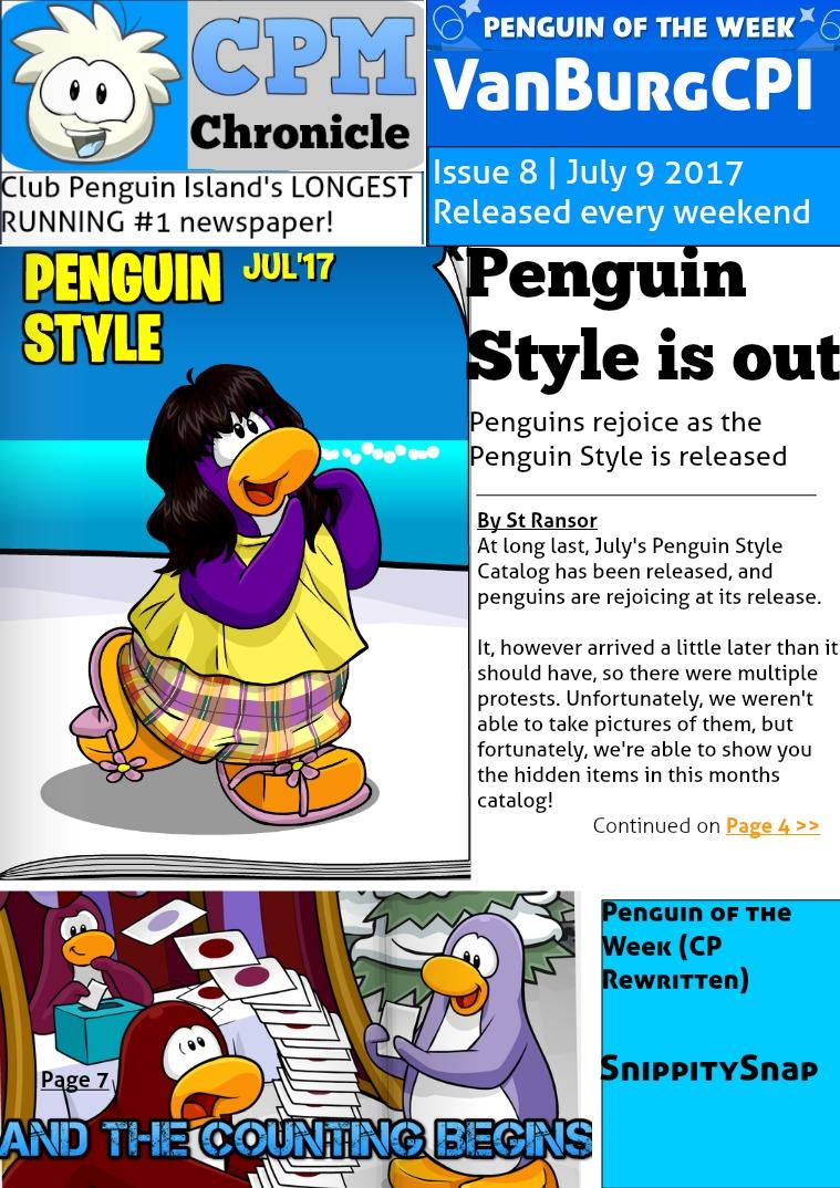 Club Penguin Metro Chronicle Issue 8