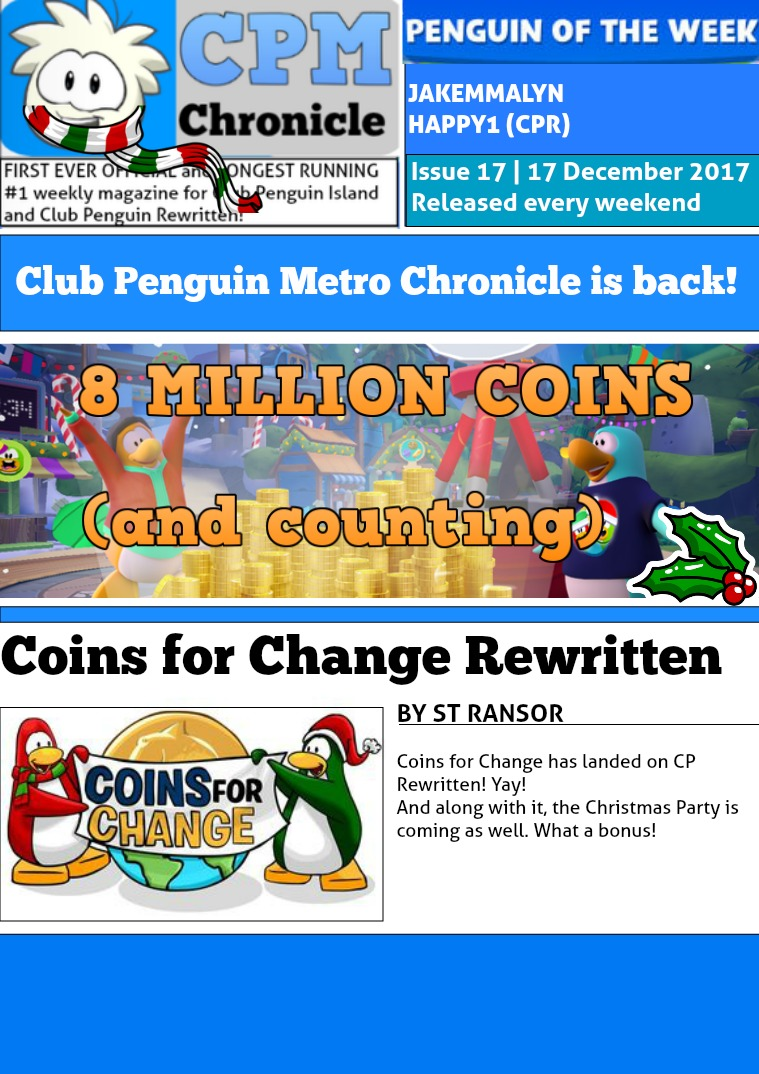 Club Penguin Metro Chronicle Issue 17