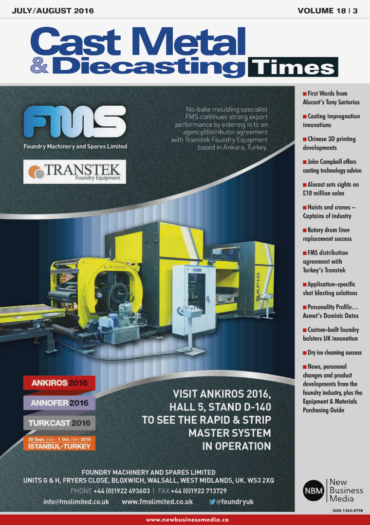 Cast Metal & Diecasting Times July/ August 2016 July/August 2016