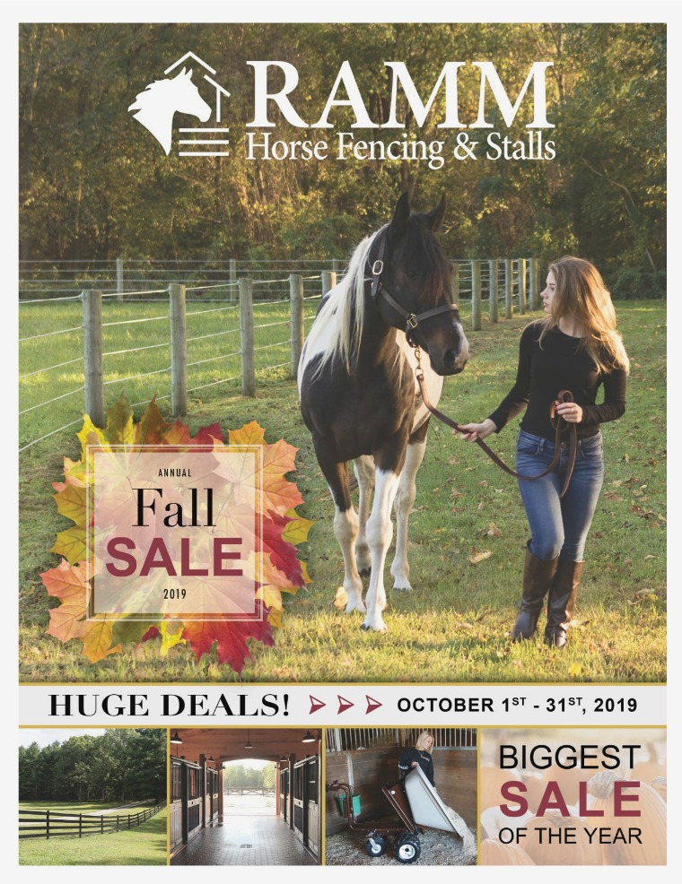 2019 Fall Sale 2019 RAMM Fall Sale