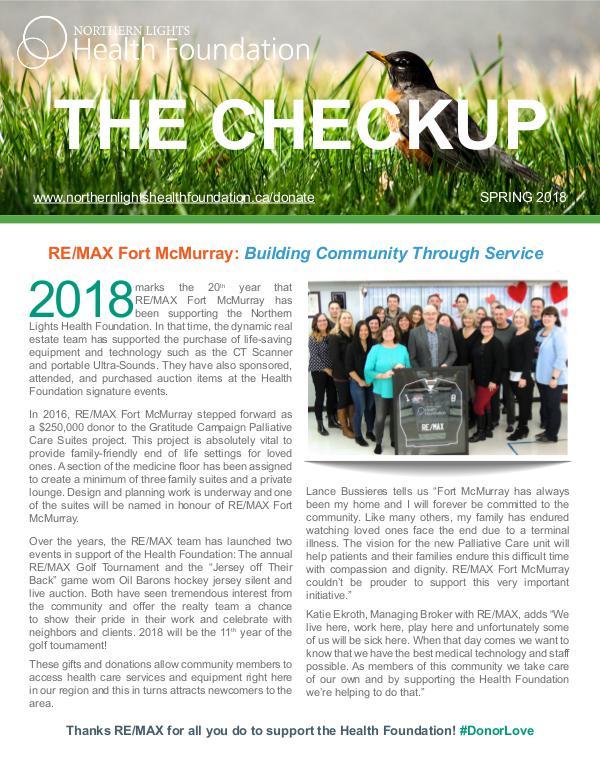 The Checkup Spring 2018