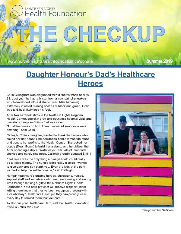 The Checkup Summer 2019 Summer 2019 Newsletter