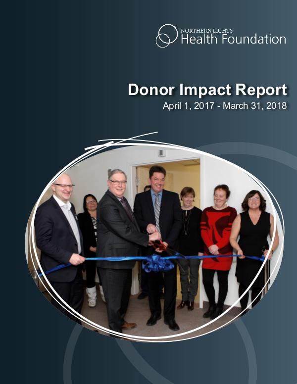 Report to the Community 2017 - 2018 Donor Impact Report