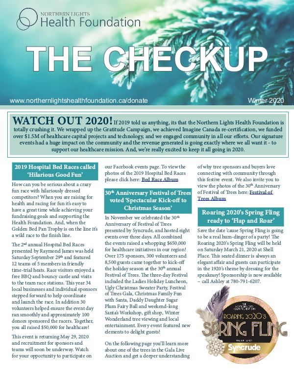 The Checkup Fall Winter 2019 Newsletter Fall Winter 2019