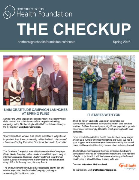 The Checkup - Spring 2016