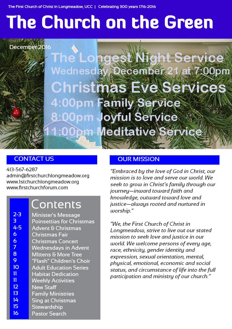 Church on the Green Newsletter December 2016