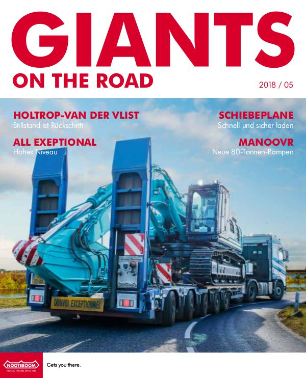 Deutsch - Nooteboom Giants on the Road Magazine Deutsch - Nr 5 - 2018