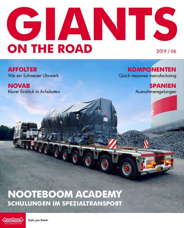 Deutsch - Nooteboom Giants on the Road Magazine Deutsch - Nr 6 - 2019
