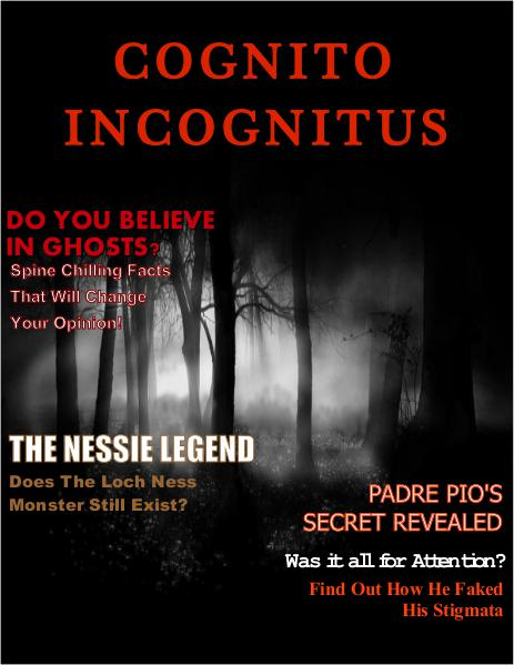 Cognito Incognitus Paranormal Magazine Volume 1, Issue 1