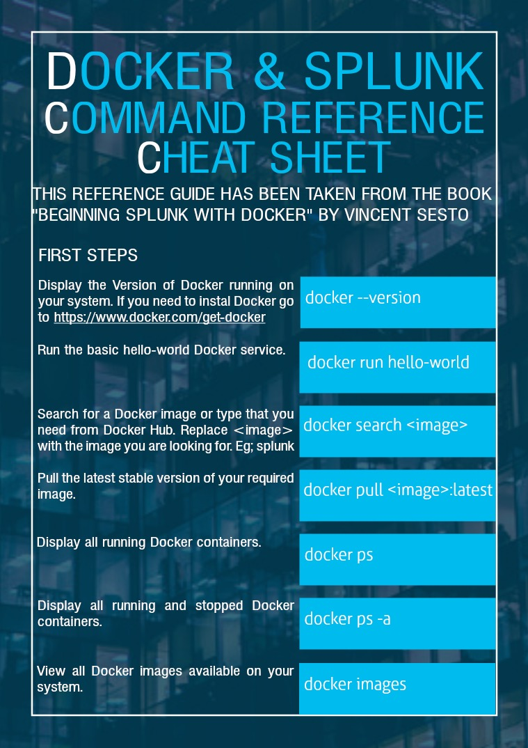 Docker for Splunk Cheat Sheet